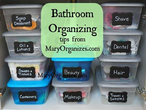 Organize Bathroom by Organization Ideas For The Bathroom Page 2 Of 2