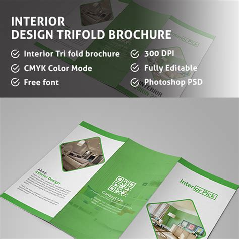 interior design business cards templates free interior design trifold brochure template