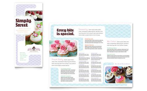 bakery templates free rack card bakery cupcake shop rack card template design