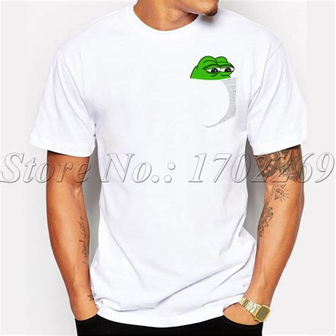 design t shirt with pocket funny men customized t shirt pepe in your pocket design