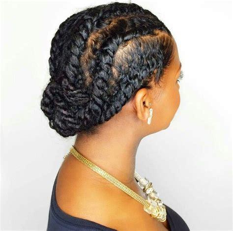 flat twist bun hairstyles the 25 best flat twist updo trending ideas on pinterest