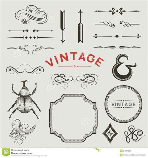 Vintage Vector Elements Stock Photos - Image: 24317923