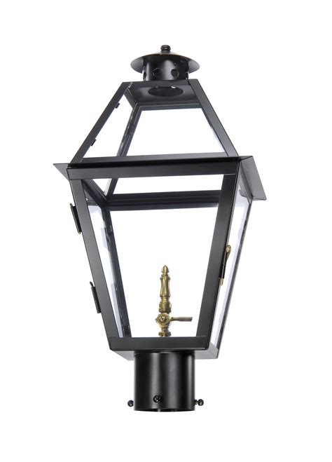 CH 25 post light, copper lantern, gas and electric lighting
