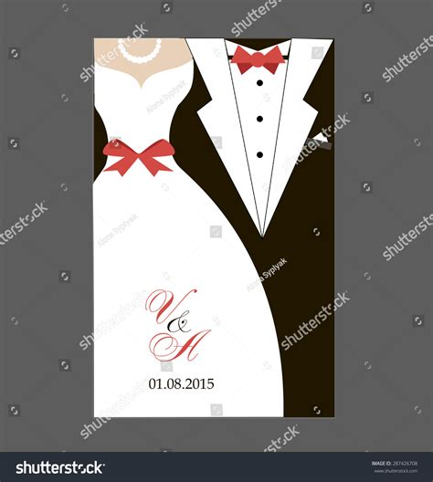 Wedding And Groom Vector by Groom Wedding Invitation Stock Vector 287426708