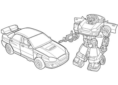 coloriage bumblebee rescue bots for coloring page 3