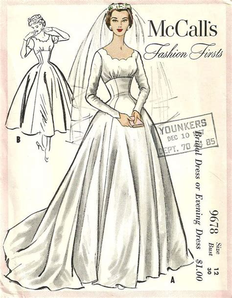 vintage pattern wedding dress 174 best sewing patterns wedding dresses images on