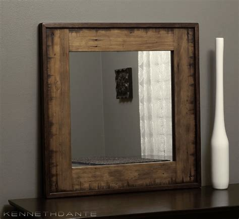 reclaimed wood mirror bathroom mirror by kennethdante