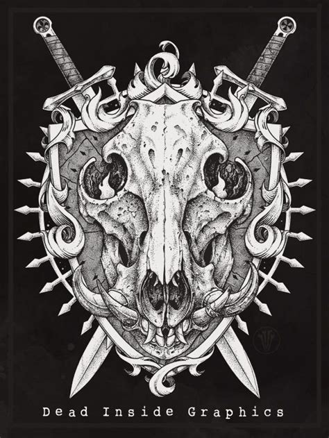 boar skull by deadinsidegraphics drawings pinterest
