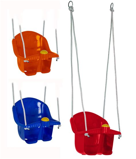 swings kids childrens plastic rope swing seat with rope mounting