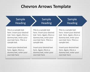 Free Chevron Arrows Template For Powerpoint Powerpoint Chevron Template