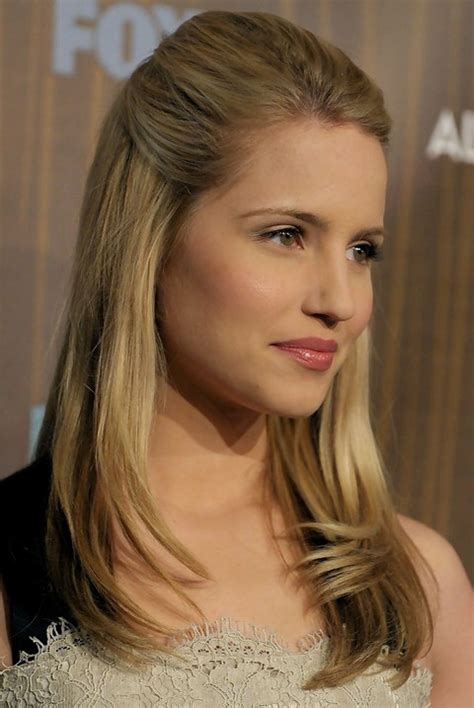 hairstyles for straight hair half up dianna agron hairstyles straight half up half down