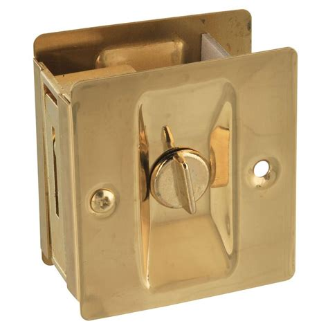 national hardware solid brass pocket door latch v1951