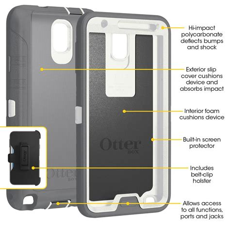 Otterbox Defender Original Samsung Note 3 Casing Anti Shock otterbox defender series for samsung galaxy note 3 retail packaging blue