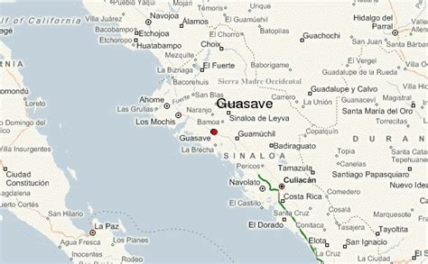 mapa de guasave sinaloa guasave location guide
