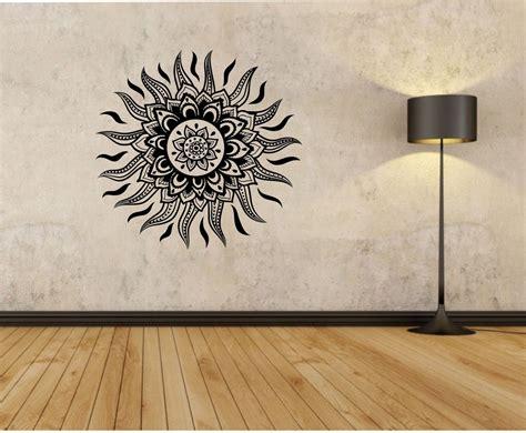 tattoo wall art sun wall decal mandala flower sun sticker decor