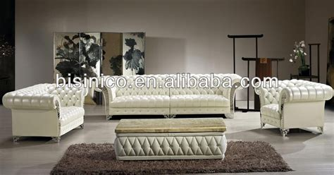 bisini luxury modern sofa set solid wood genuine leather