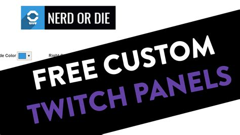 How To Use Twitch Giveaways - customizable twitch panels nerd or die