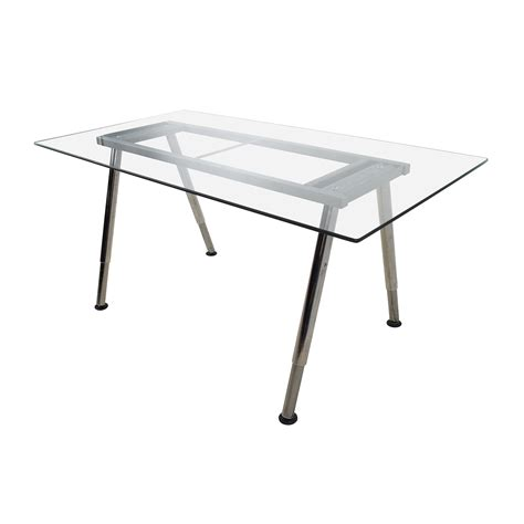 glass top tables with metal base 52 glass top trestle table with metal base tables