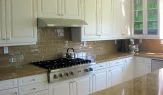 kitchen backsplash with white cabinets white glass subway tile backsplash home design jobs