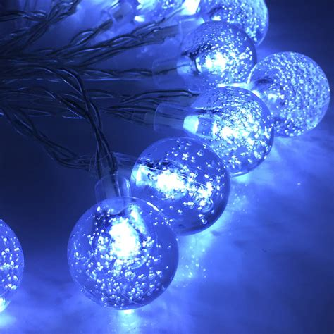 clear crystal led light garland 4m 40leds holiday fairy battery operated light crystal