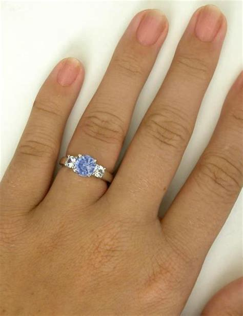 Blue White Gr6071 ceylon sapphire and white sapphire ring gr 5689