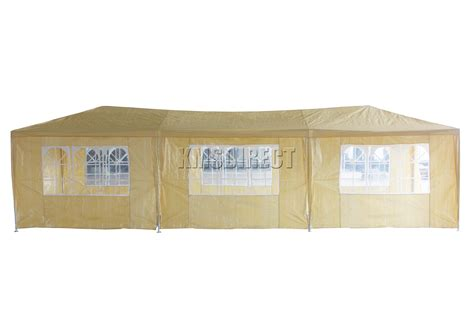 marquee awning waterproof beige 3m x 9m outdoor garden gazebo party tent