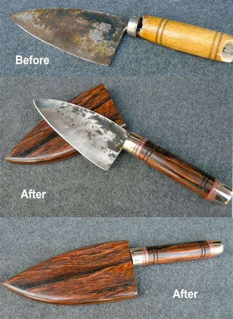 Kitchen Knife Handle Replacement Repair Conversions River Custom Knives