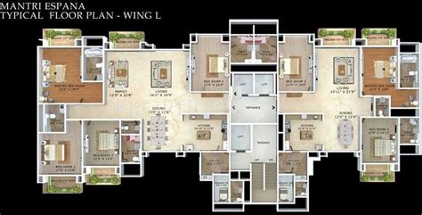 Mantri Espana Floor Plan mantri espana in bellandur bangalore price location