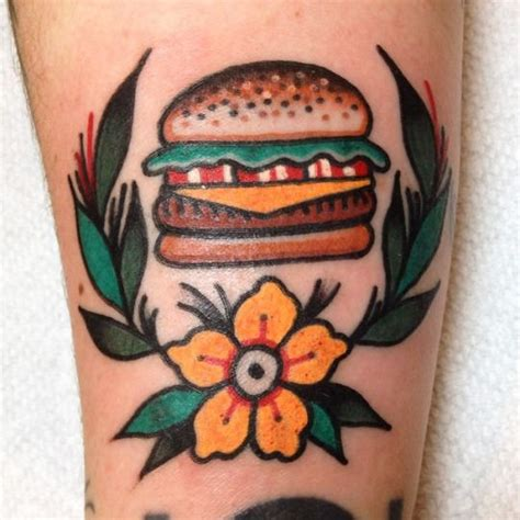 hamburger tattoo best 663 traditional 3 images on