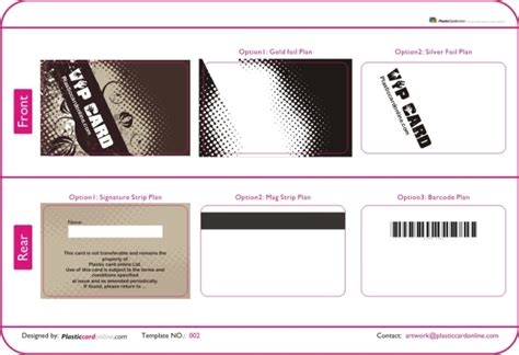 Membership Card Template Free free ready made plastic card template