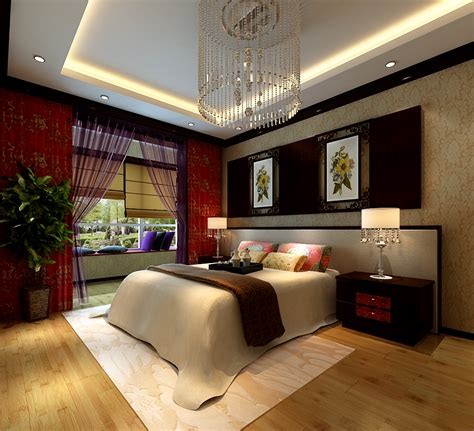 Furnished Bedroom Collection Collection Modern Bedroom Fully 3d Model
