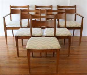 Folding Dining Table 2 Picked Vintage Mid Century Modern Dining Chair Set And Broyhill Brasilia Dining Table Picked Vintage