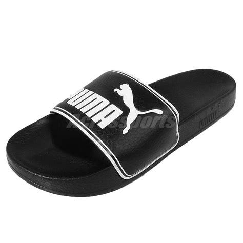 big and slippers leadcat black white big logo sandals slides