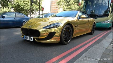 maserati chrome gold chrom gold maserati grancabrio sounds 1080p