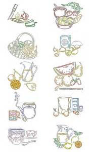 Kitchen Embroidery Designs Free Machine Embroidery Designs Kitchen Multicolor Set
