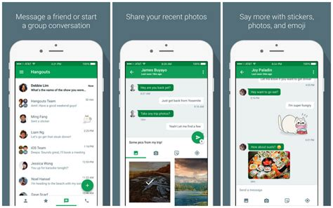 hangouts android hangouts 4 0 for ios brings new ui lets you send