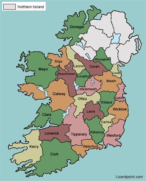 ireland county map test your geography knowledge ireland counties lizard