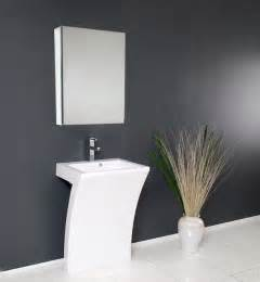 contemporary bathroom vanities and sinks quadro pedestal sink modern bathroom vanity by fresca