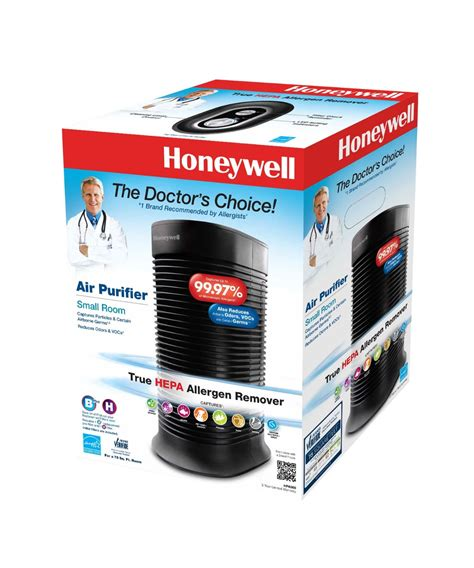 the honeywell hpa060 true hepa compact tower air purifier with allergen remover honeywell air