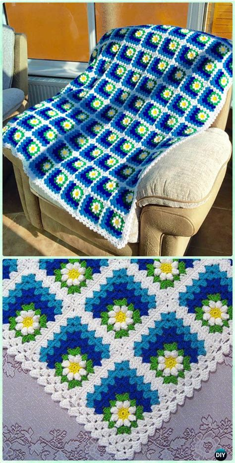 Crochet Square Blankets by Crochet Mitered Square Blanket Free Patterns