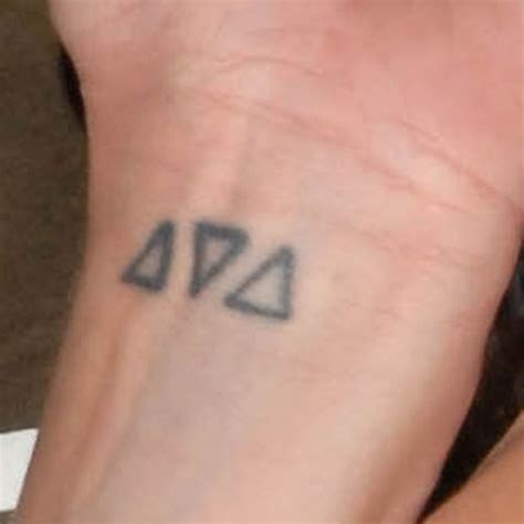 triangle wrist tattoo pauley perrette triangle wrist style
