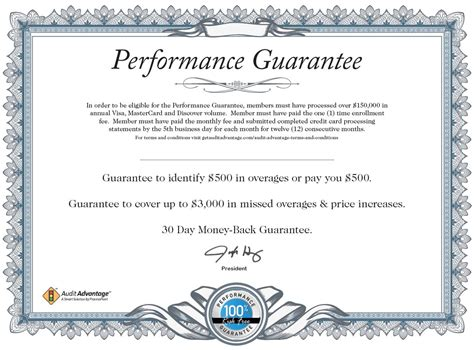 certificate of guarantee template certificate of guarantee sle images certificate