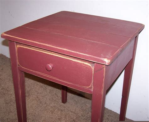 cottage style end tables distressed shaker end table with drawer rustic cottage style