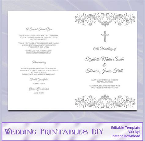 catholic wedding program templates free wedding program template 41 free word pdf psd