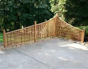 6 Piece Outdoor Furniture Set by Red Cedar Lattice Corner Fencing