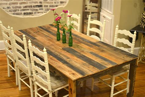 Pallet Dining Table Diy The Shipping Pallet Dining Table Paths So Startled