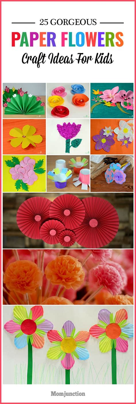 Simple Paper Flowers For Children To Make - the 25 best flower crafts ideas on