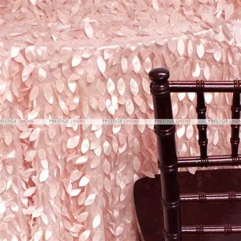 leaf petal taffeta table linen blush pink prestige linens