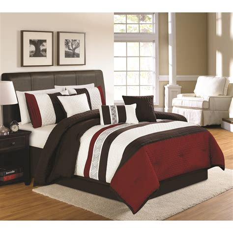 7 Pc Bedroom Set by Ethan 7 Pc Comforter Set Brown