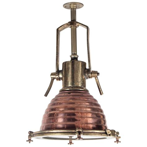 Nautical Kitchen Island Lighting Nautical Spotlight Or Fox Light In Brass And Copper At 1stdibs